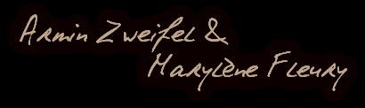 Signatures Armin et Marylène